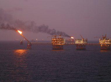 An oil rig offshore Vungtau