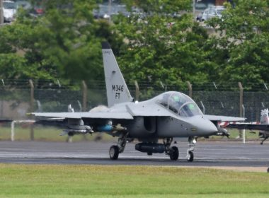 Fighter jet at Farnborough Air Show