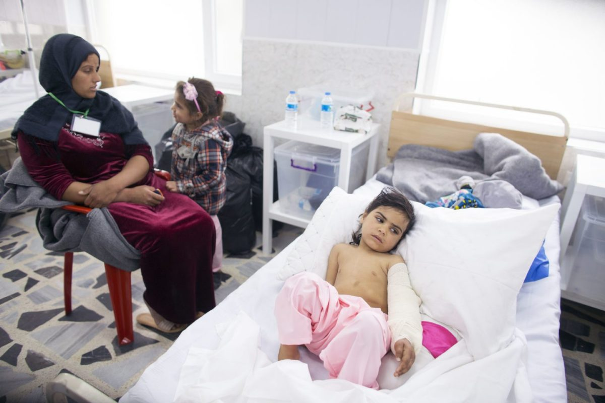 Five year old Shehad recovers in hospital