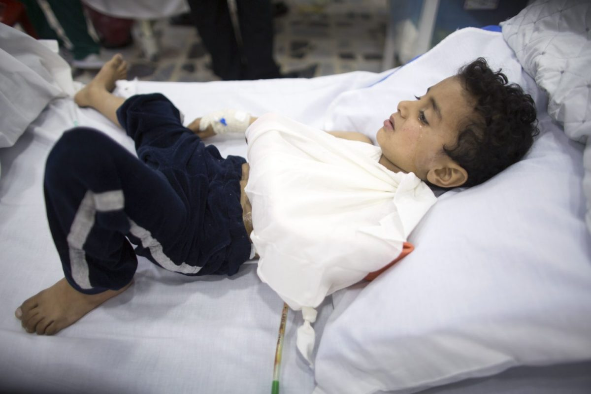 Five year old Husan was shot in west Mosul