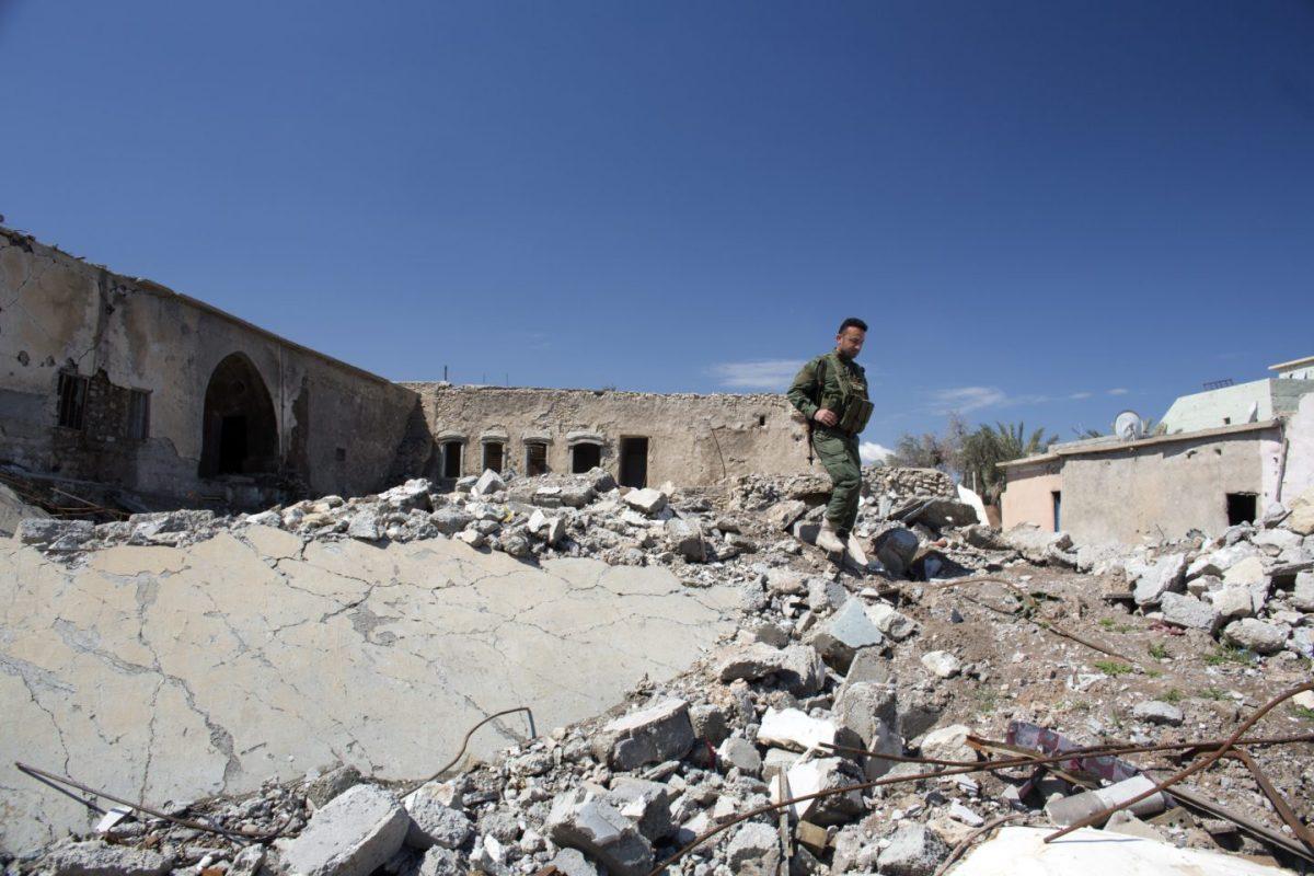 Ruined town of Batnaya, Iraq