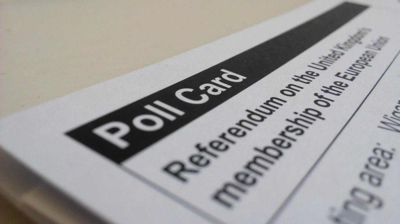 EU polling card