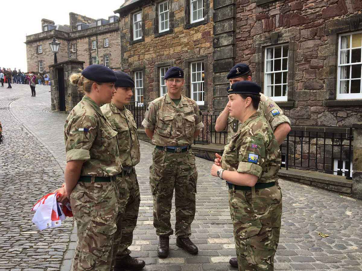 Did Ruth Davidson break Army rules by wearing military uniform? 6
