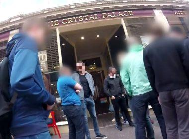 Anti fascists shut down first public meeting of new far right group 9