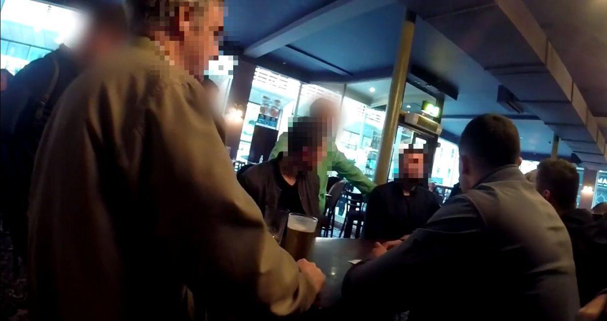 Anti fascists shut down first public meeting of new far right group 10