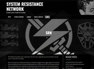 System Resistance Network website screenshot