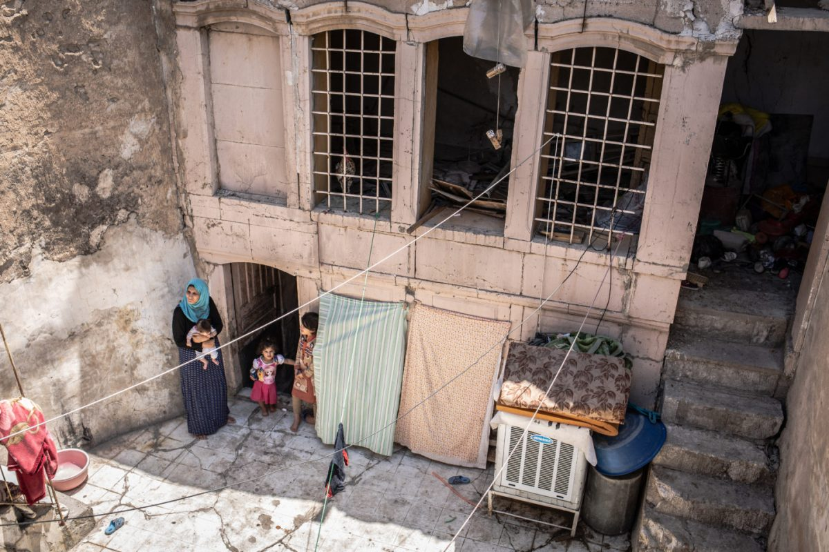 Liqaa and her family living in a basement - Old city of Mosul