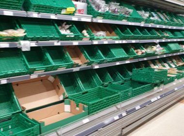 Empty shelves at Co-op