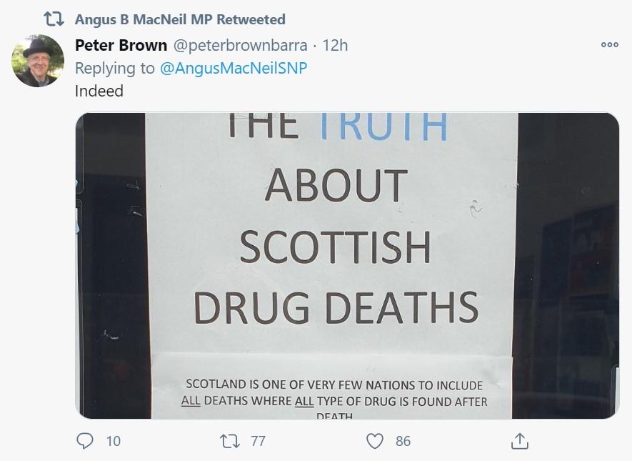 Angus Macneil drug deaths