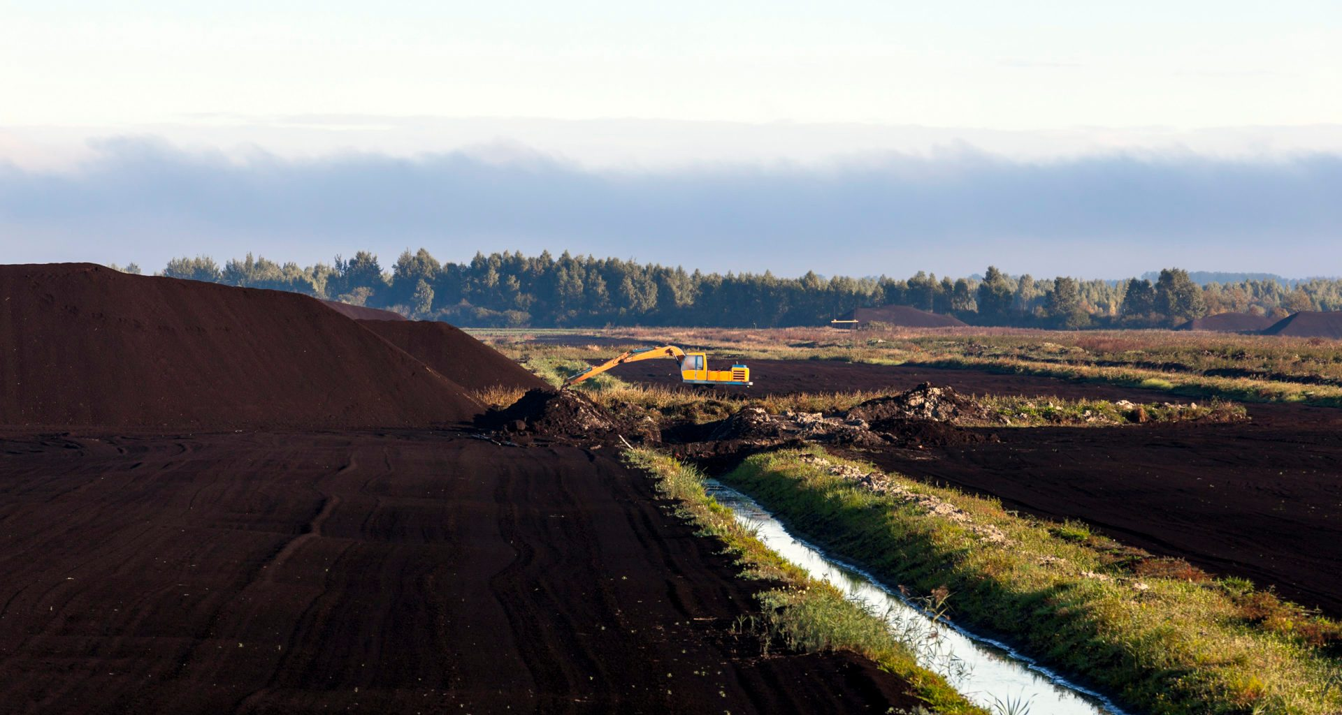 Commercial peat extraction