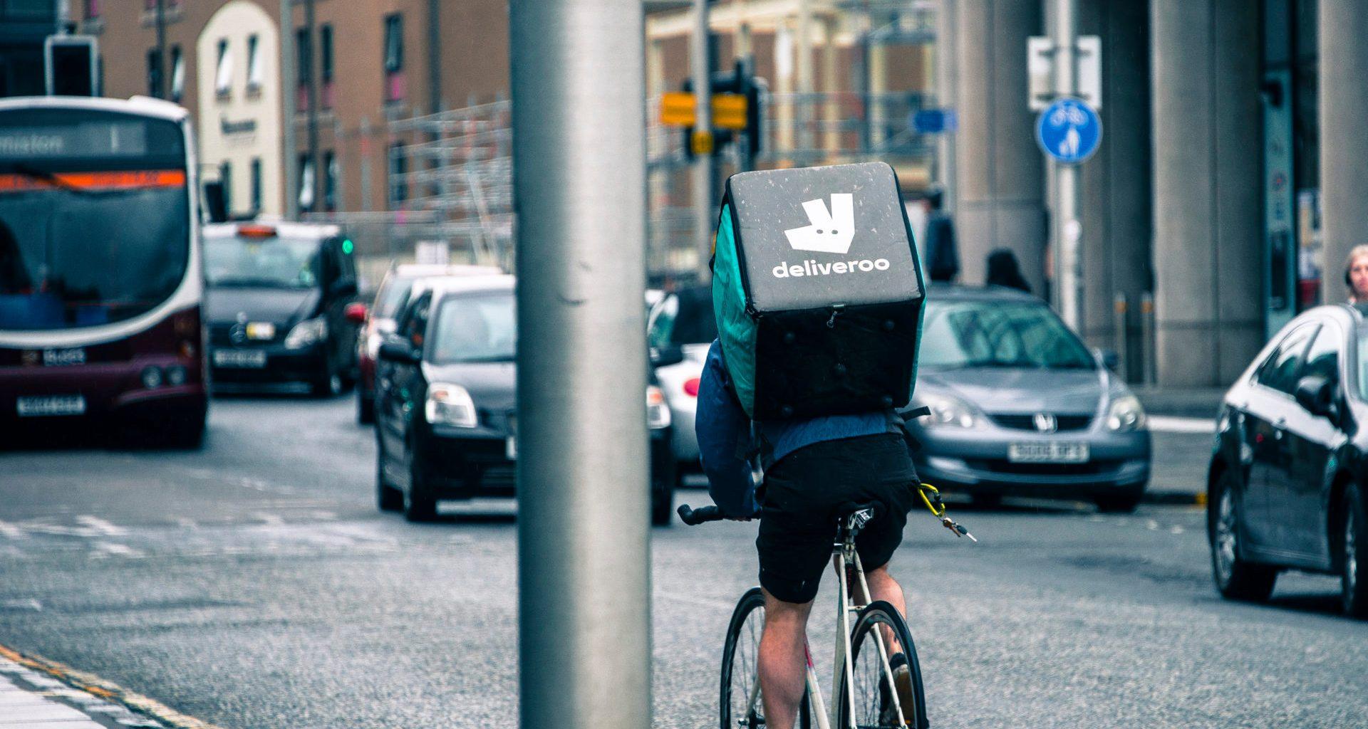 Deliveroo deliivery worker in Edinburgh