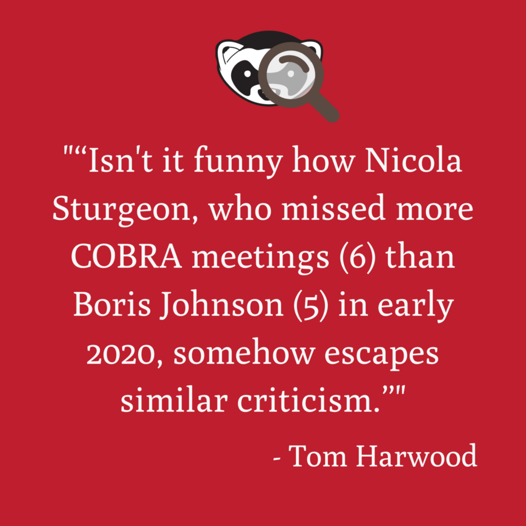 Claim Nicola Sturgeon missed early Covid-19 COBRA meetings Mostly True 8