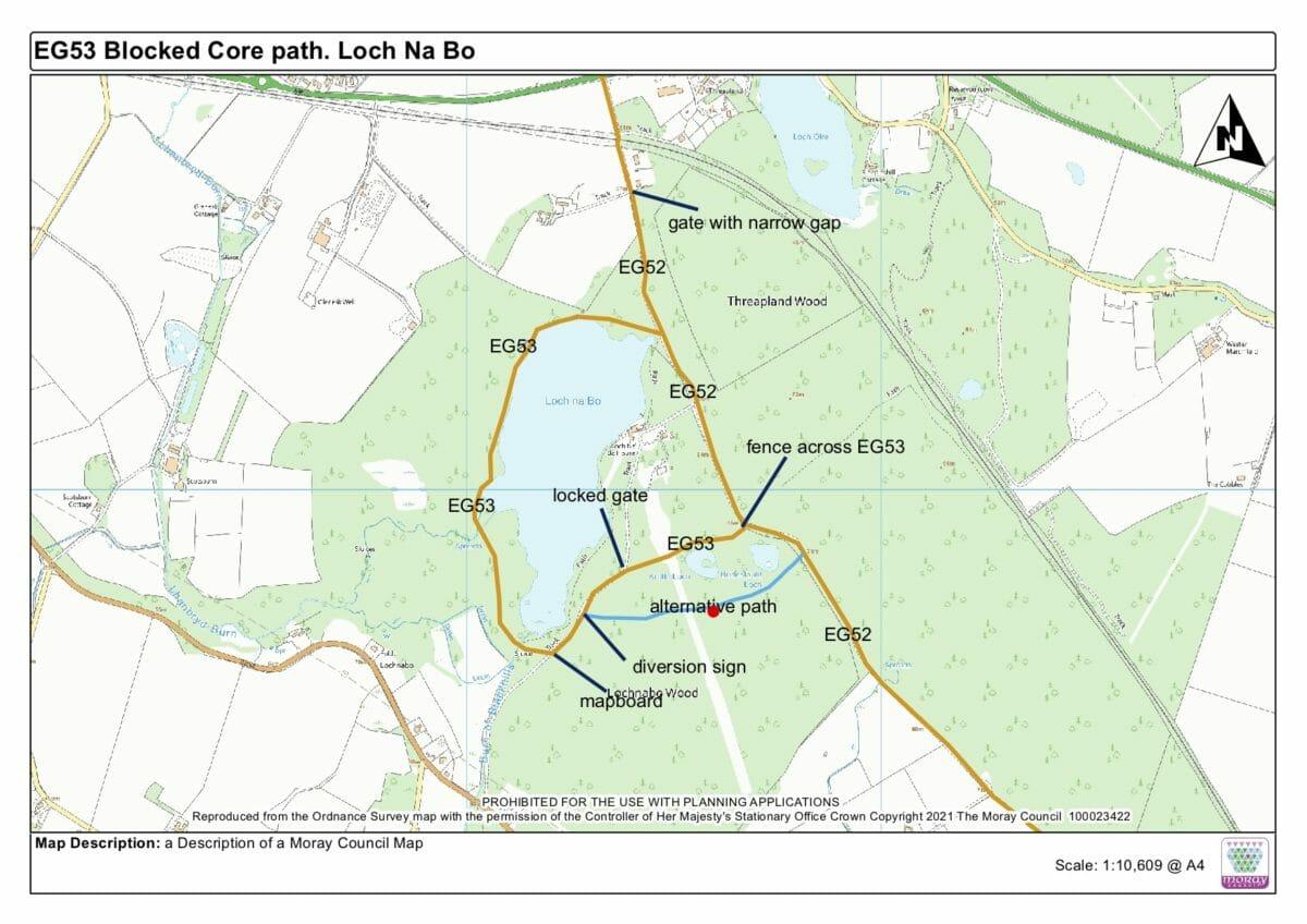 Moray estate 'illegally' blocking land access, says MSP 9